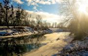 Bedőcs Gyula : A varázslatos téli Rába